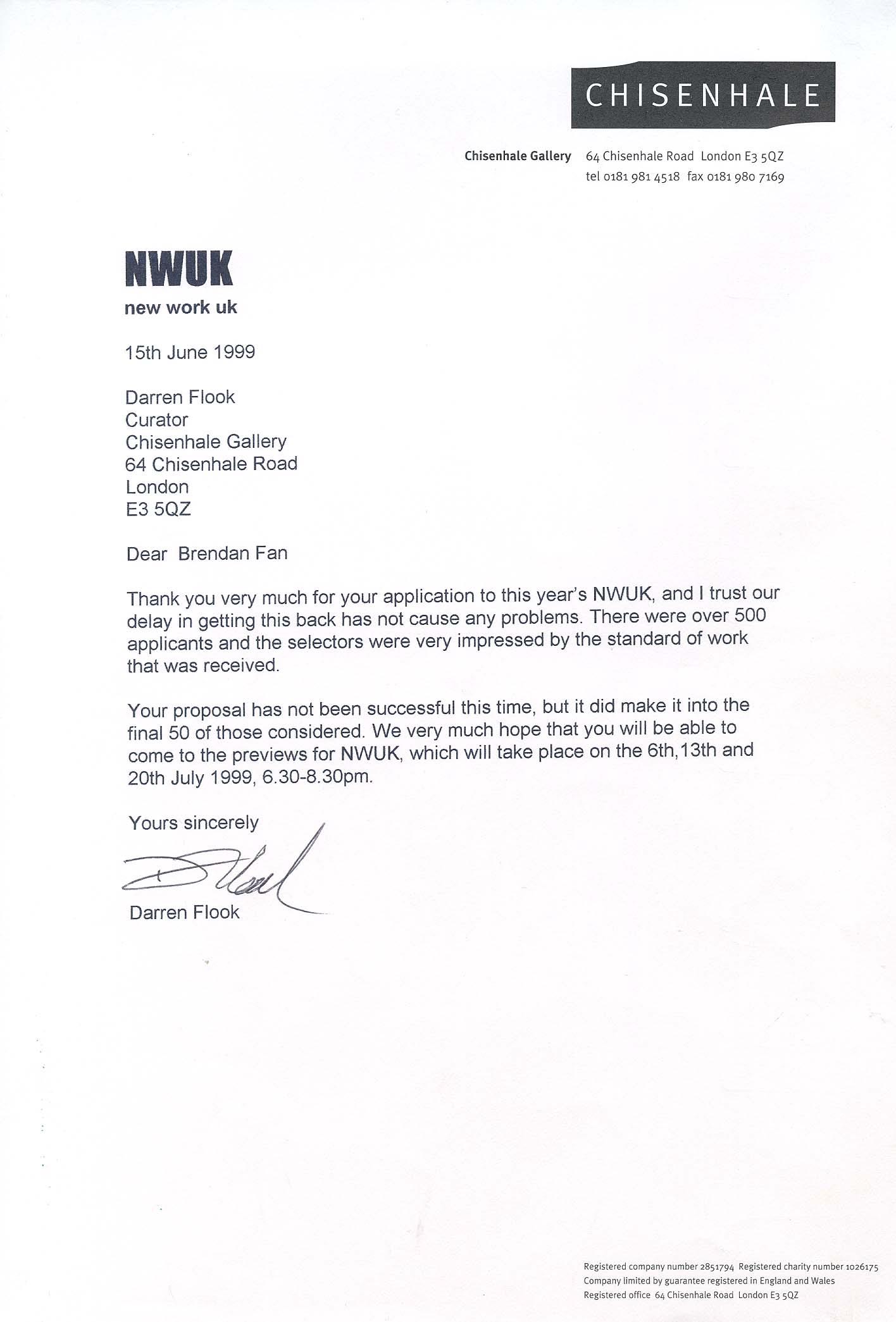 Vendor Rejection Letter Quotes